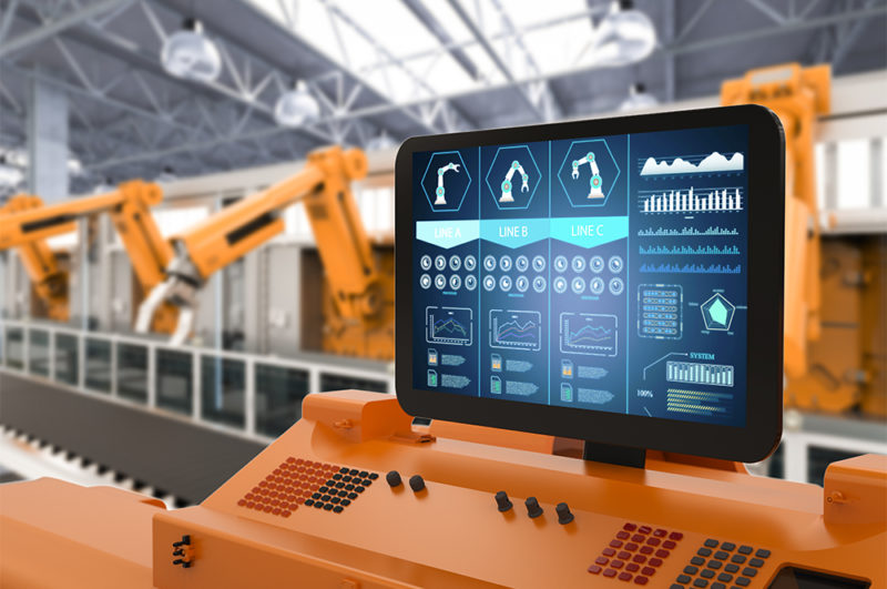 factory automation human interface screen photo